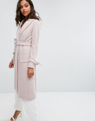 Lipsy Long Wool Gery Coat
