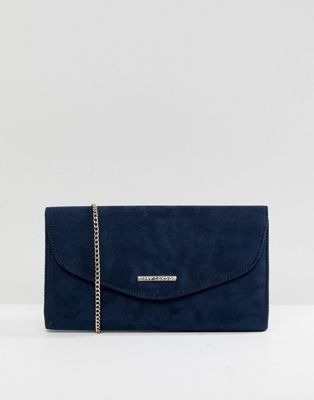Lipsy Navy Clutch With Gold Detailing