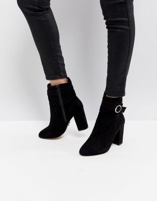 Lipsy Ring Buckle Detail Boot