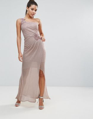 Lipsy Ruched One Shoulder Maxi Dress