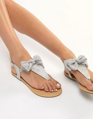 Lipsy Sandal With Bow Detail