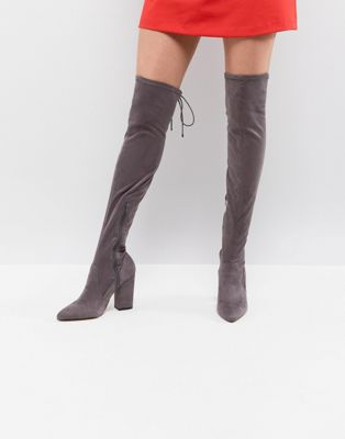 Lipsy Stretch Over The Knee Boot