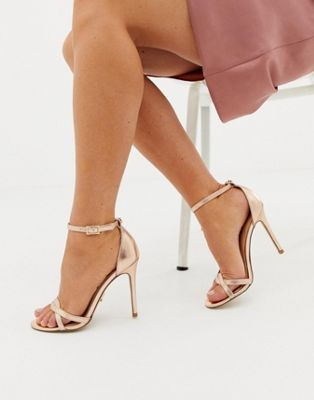 Lipsy twist strap barely there sandal
