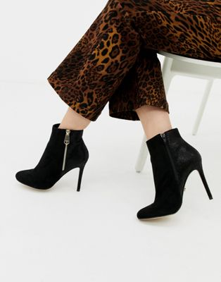 Image 1 of Lipsy zip up heeled ankle boot in black