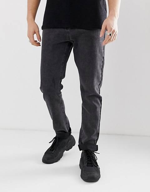 Liquor N Poker dad jeans in washed black