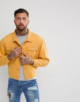 Liquor N Poker - Giacca di jeans oversize color senape
