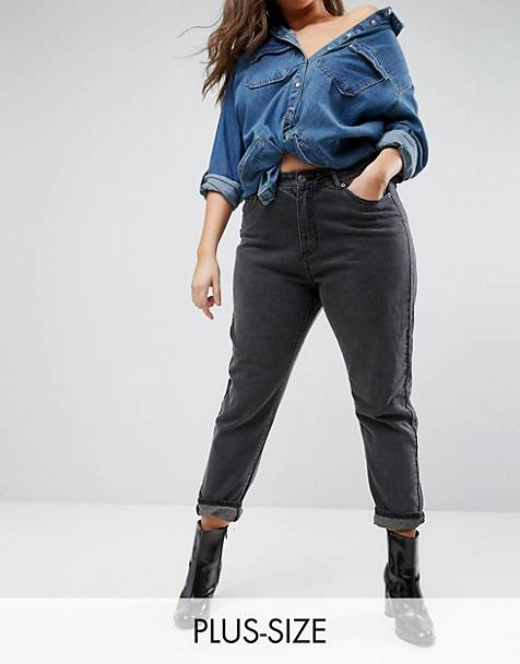5e6cff8afd1 Liquor N Poker Plus boyfriend jeans with stepped waist