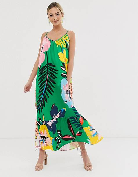 Liquorish 2-way cami maxi dress in floral print