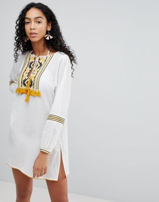 Liquorish Embroidered Beach Dress