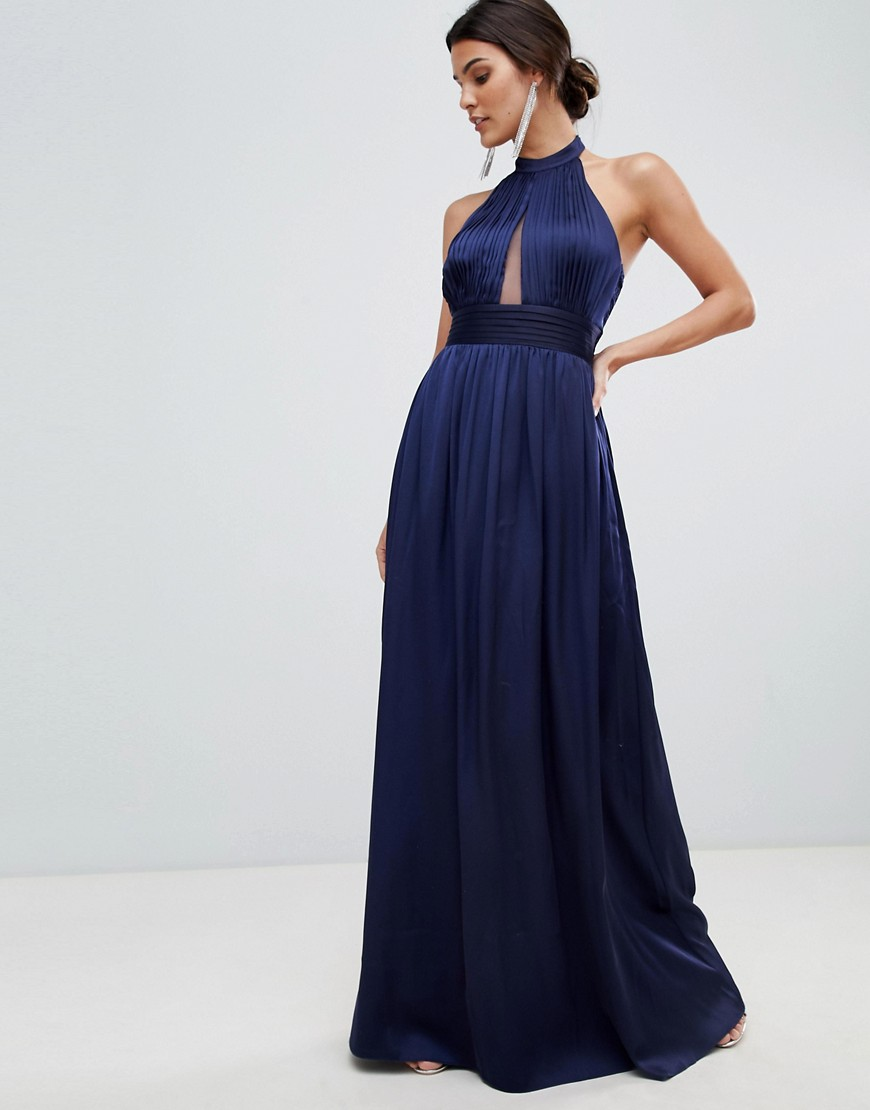 Little Mistress keyhole maxi dress-Navy - Little Mistress online sale