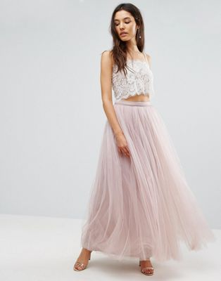 Little Mistress Maxi Tulle Prom Skirt