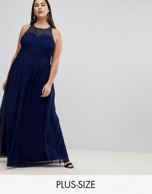 Little Mistress Plus Maxi Dress With Embellishment