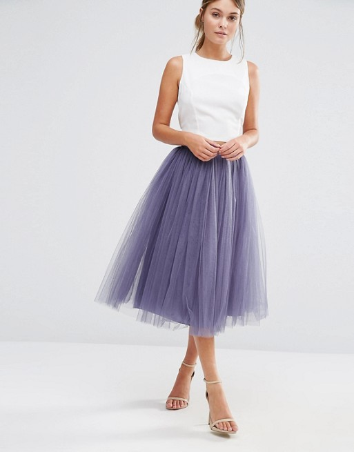 Little Mistress Tulle Midi Prom Skirt