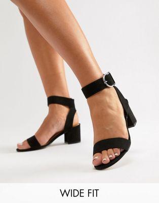 London Rebel - Chaussures à talons pointure large