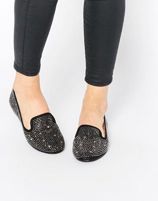 Image 1 of London Rebel Kiwi Embellished Slipper Shoes