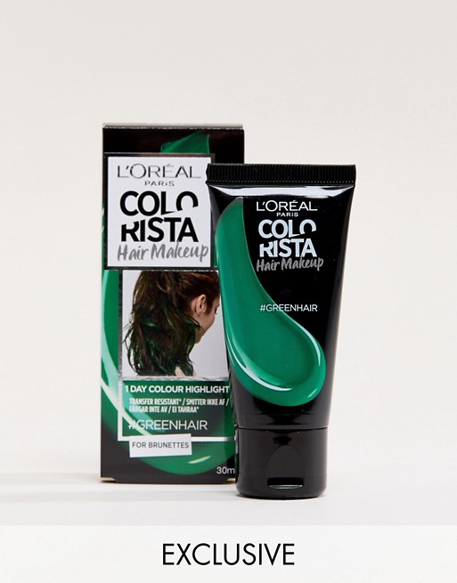 L'Oreal Paris Colorista Hair Makeup Green Temporary Brunette Hair Colour