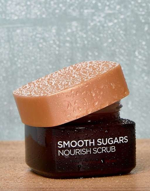 Image 1 of L'Oreal Paris Smooth Sugar Nourish Cocoa Face And Lip Scrub 50ml