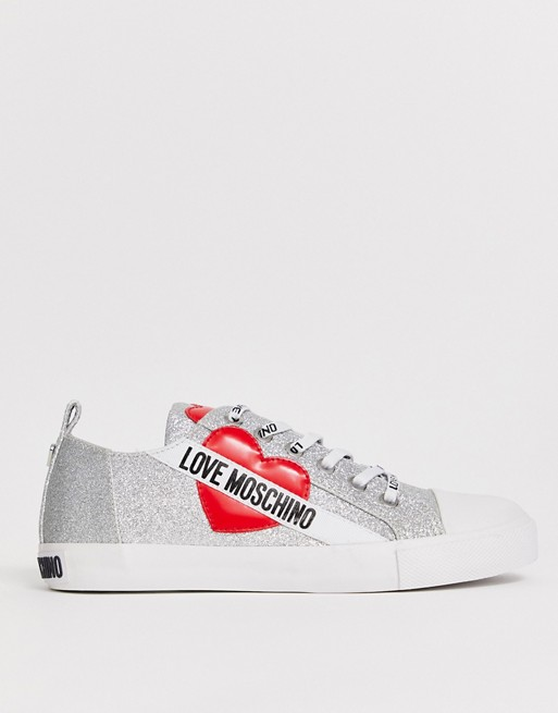 Image 1 of Love Moschino glitter logo trainers