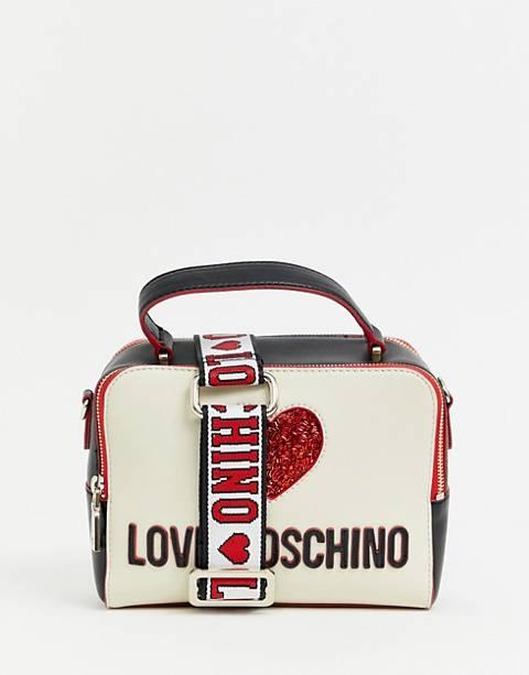 Love Moschino heart logo cross body bag