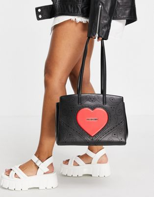 Love Moschino quilted shoulder bag in blue - ASOS Price Checker