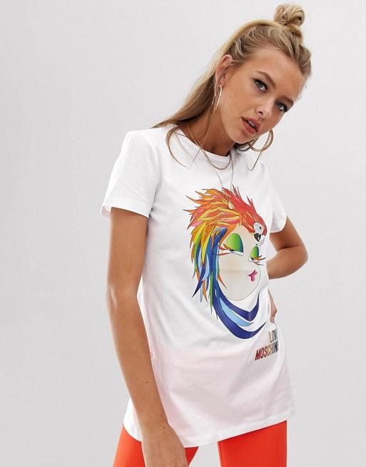 Love Moschino – Parrot Hat – T-Shirt