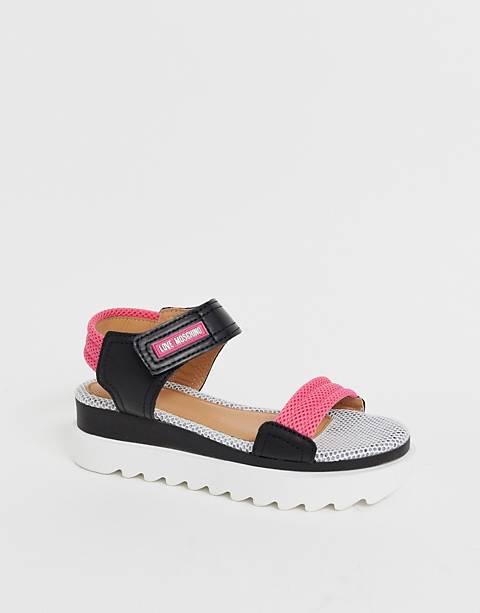 Love Moschino – Sandalen mit dicker Plateausohle
