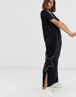 Image 1 of Love Moschino star diamante maxi dress
