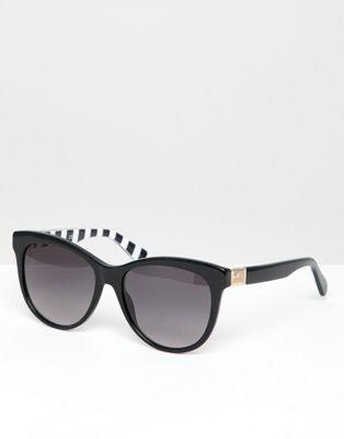 Love Moschino Svarta runda solglasögon