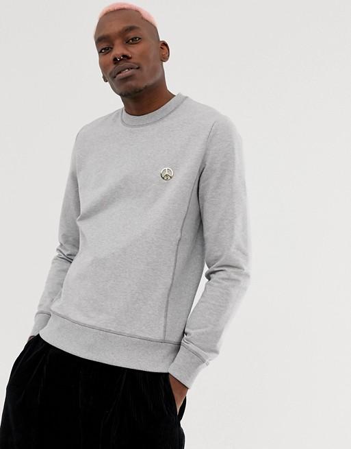 Afbeelding 1 van Love Moschino - Sweatshirt met logo op de borst