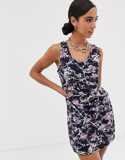 Love Moschino - Vestito canotta stampa marmo