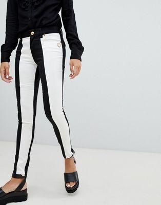 Love Moschino - Zwart-witte skinny jeans