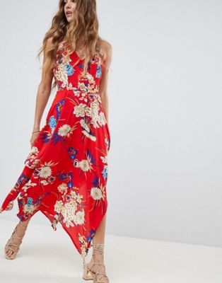 Love & Other Things Floral Frill Maxi Dress