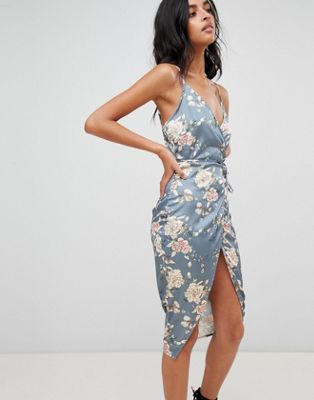 Love & Other Things Floral Print Wrap Dress
