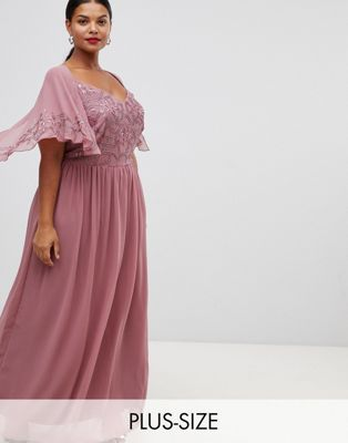 Image 1 of Lovedrobe Luxe embellished maxi dress with cap sleeves