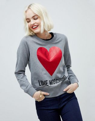 Lover Moschino Glitter Heart Sweater