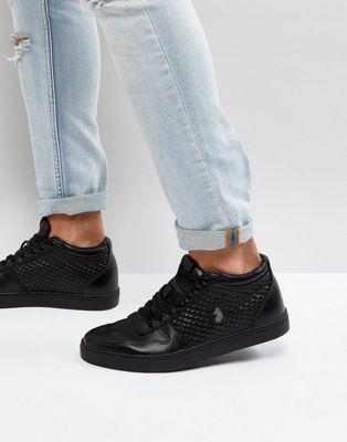 Luke 1977 Hartley Quilted Side Panel Trainers in Black