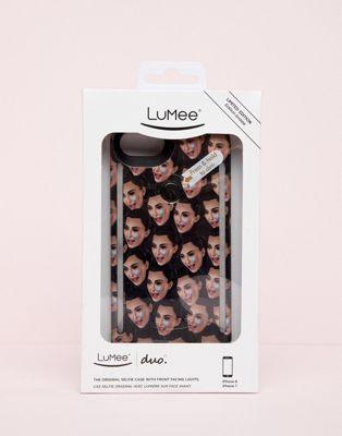 LuMee DUO iPhone 6/6s/7/8 Kimoji Crying Black Case