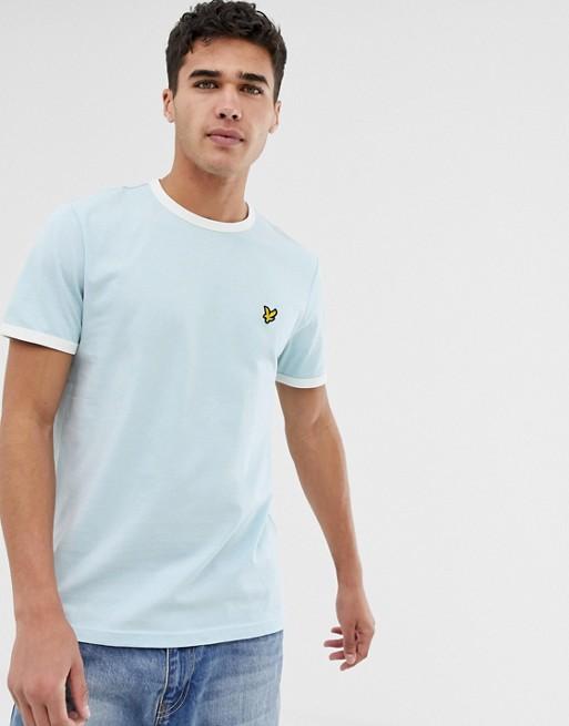 Lyseblå atlet T-shirt fra Lyle & Scott
