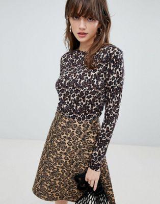 Mads Norgaard Leopard Jersey Top