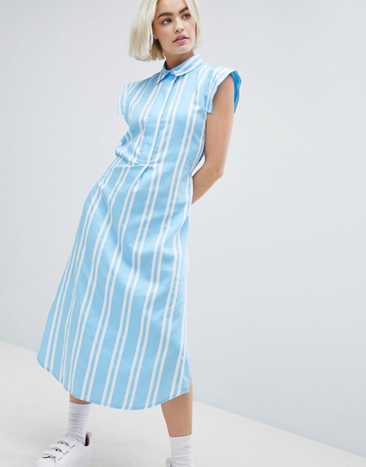 Image 1 of Mads Norgaard Stripe Shirt Dress