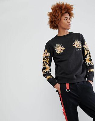 Maharishi Dragon Arm Embroidered Sweatshirt