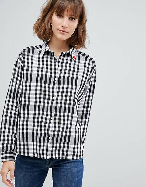Maison Scotch Boxy Fit Classic Checked Shirt