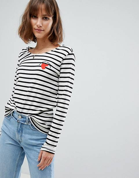 Maison Scotch Breton Stripe Long Sleeved T-Shirt