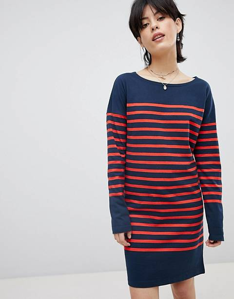 Maison Scotch Breton Stripe Sweat Dress