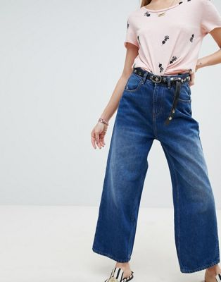 Maison Scotch cropped wide leg jeans