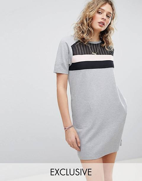 Maison Scotch Exclusive Sweat Dress With Inserted Mesh