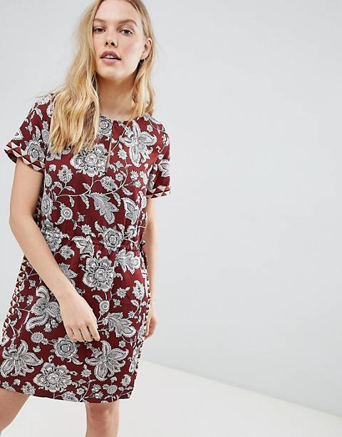 Maison Scotch Floral Print Dress with Elasticated Waist