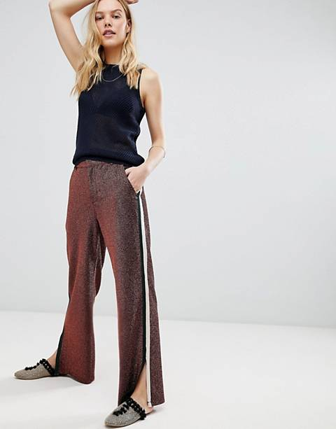 Maison Scotch Glitter Side Stripe Disco Pants