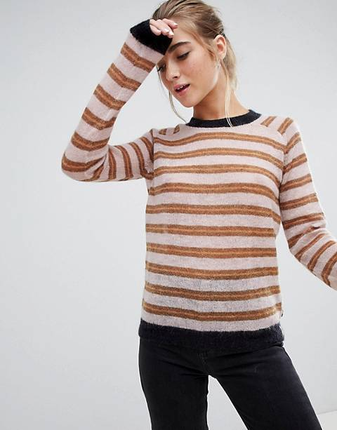 Maison Scotch glitter stripe sweater