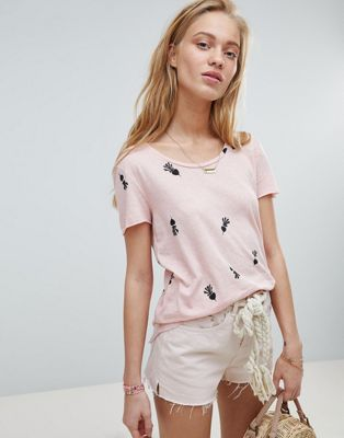 Maison Scotch relaxed printed t-shirt